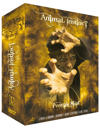 3 Pencak Silat Animal Instinct DVDs Geschenk-Set
